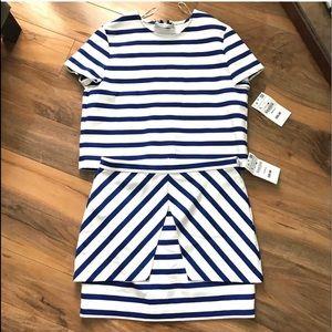 NWT Zara Nautical Stripe Co-Ord Set